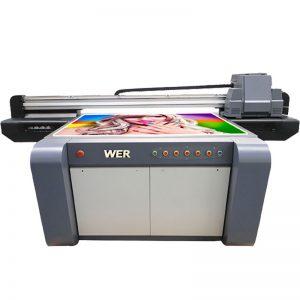 3D efek UV flatbed printer, keramik printer, ubin printing machine di china WER-EF1310UV