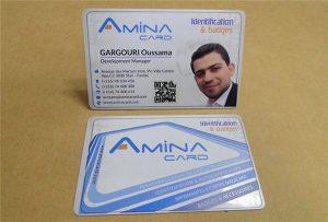 Kartu nama bisnis prining sampel saka desktop uv printer -A2 ukuran WER-D4880UV