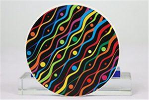 Sampel percetakan keramik saka wol Rioch head uv WER-G2513UV
