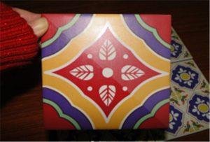Sampel jubin keramik dicetak ing printer A2 uv WER-D4880UV
