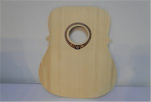 Gitar kayu sampel dari A2 size uv printer WER-DD4290UV